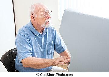 älterer mann, abstimmung