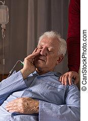 älterer mann, patient