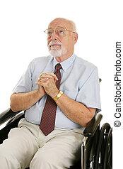 älterer mann, von, glaube