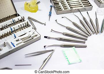 ämbete., dental, tandläkare, system, kategorien