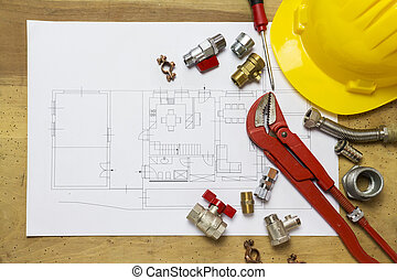 ämbete skrivbord, med, hydraulisk, monteringar, hjälm, och, projekt formge