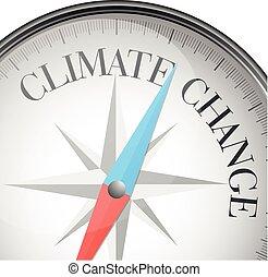änderung, klima, kompaß