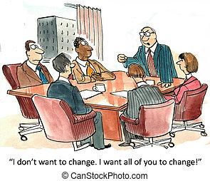 ändring, administration