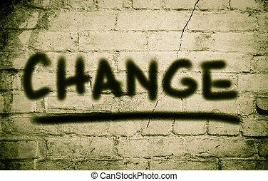 ändring, begrepp