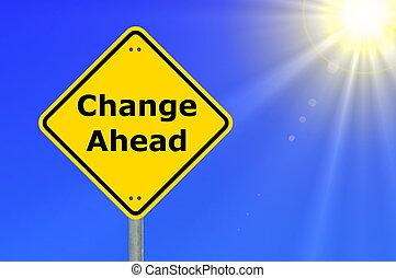 ändring, framåt