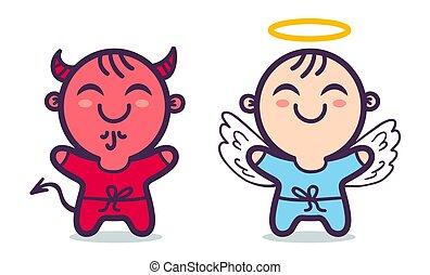 ängel, devil.