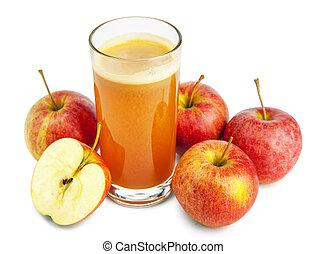 äppelmust, på, a, bakgrund