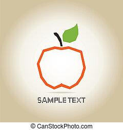 äpple, apelsin