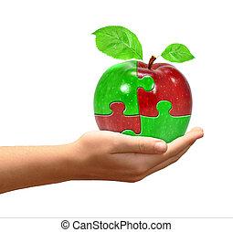 äpple, collage