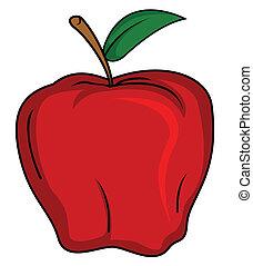 äpple, frukt