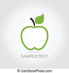 äpple, grön