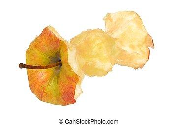 äpple kärna, vita