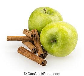 äpple, kanel