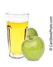 äpple, med, juice