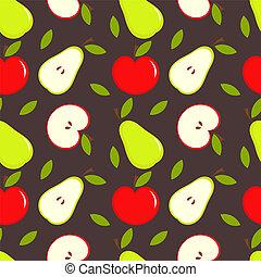 äpple, och, päron