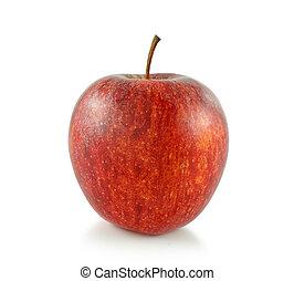 äpple, röd, isolerat