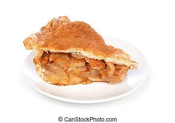 äpple tårta, skiva