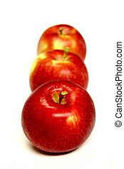 äpplen, isolerat
