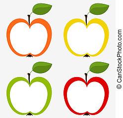 äpplen, kollektion