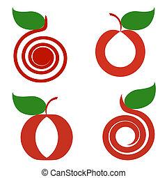 äpplen, sätta