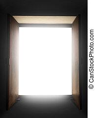 åben dør, til lys