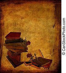 åldrig, böcker, och, ro