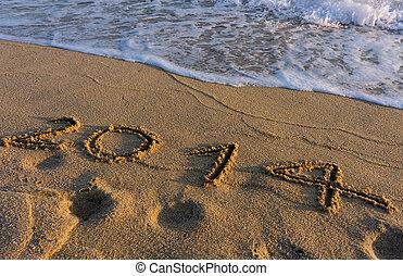 år, 2014, stranden