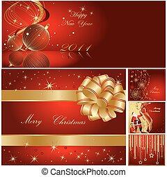 år, lycklig, god jul, färsk