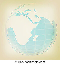 årgång, 3, earth., style., illustration.