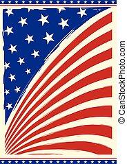 årgång, amerikan flagga