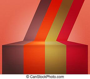 årgång, arrangera, stripes, bakgrund, röd