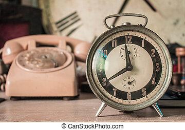 årgång, av, a, clock.