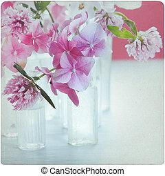 årgång, blomma, bakgrund