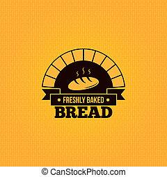 årgång, bread, design, bakgrund, meny