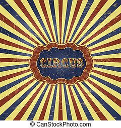 årgång, cirkus, bakgrund, illustration