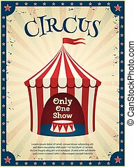 årgång, cirkus, poster.