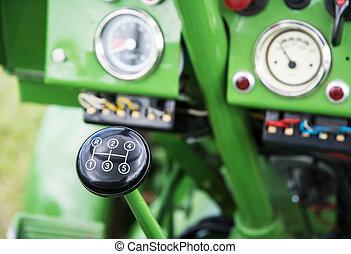 årgång, drev, traktor, käpp