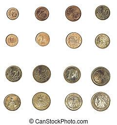 årgång, euro, mynt, -, italien