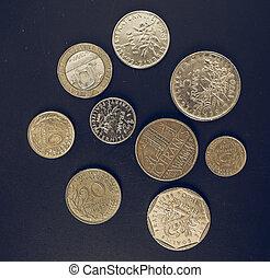 årgång, french franc, mynt