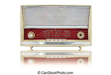 årgång, gammal, radio
