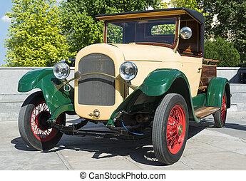 årgång, gammal, retro, bil