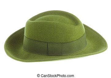 årgång, grön hatt