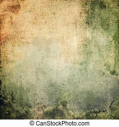 årgång, grunge, bakgrund., med, utrymme, för, text, eller, avbild