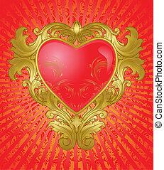 årgång, guld hjärta