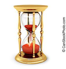 årgång, gyllene, timglas