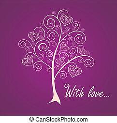 årgång, hälsning, träd