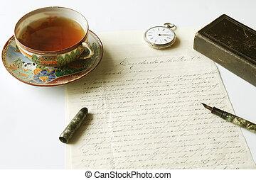 årgång, handskrivet brev, och, reservoarpenna