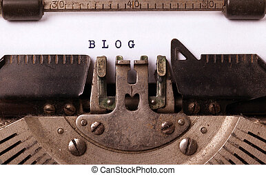 årgång, inskrift, gjord, av, gammal, skrivmaskin