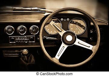 årgång, instrumentbräda, bil