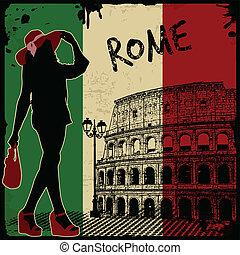 årgång, italiensk, affisch